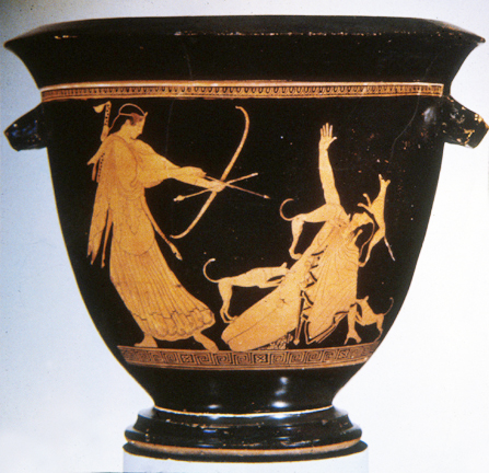 Artemis And Acteon Red Figure Krater