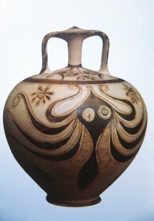 Mycanaean Stirrup Octopus Vase