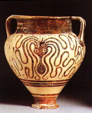 Mycanaean Octopus Vase